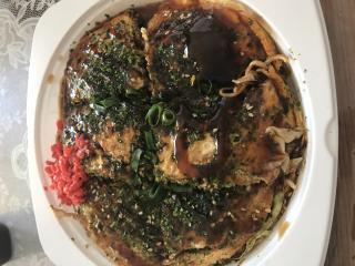 広島お好み焼きを食べました♪画像