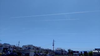 飛行機雲画像