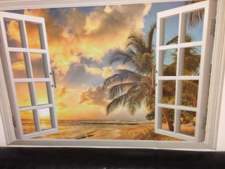 海辺にある家画像