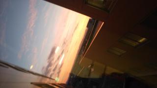夕日がきれいでした(*^^*)