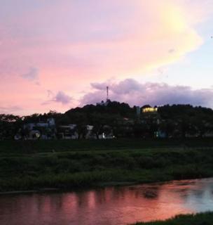 夏の日の夕焼け画像