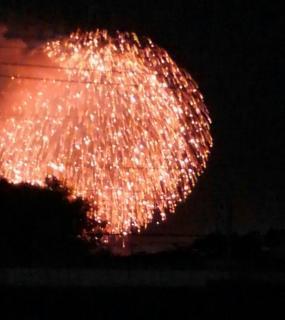 花火🎆を見にいきました。画像