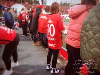 サッカーの試合観戦☆画像