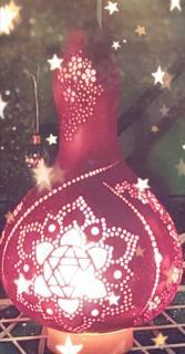 ひょうたんランプとクリスマス画像