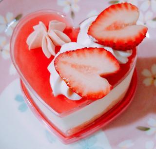 桃のレアチーズ画像