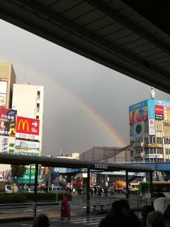 土曜日に虹が出た