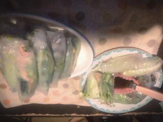 今日の夕飯は生春巻き画像