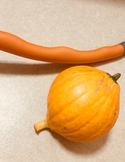 フラフープとかぼちゃ画像