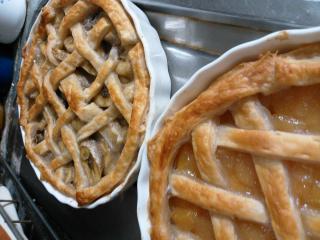 アップルパイ&バナナパイ。画像