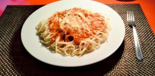 今日の晩御飯は手作りミートスパゲティ♪画像
