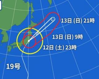 台風の影響画像
