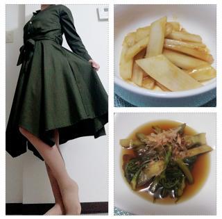 ある日の私服&料理画像