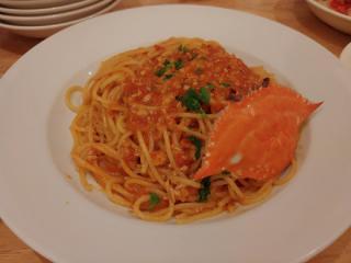 渡り蟹のトマトクリーム スパゲティ 🍀画像