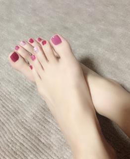 初ブログ☆フットネイル♪画像
