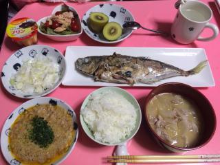 一人暮らしの食卓画像