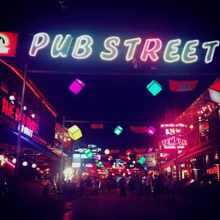 シェムリアップのPub street画像