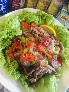 Vietnam風牛肉グラスヌードルサラダ🇻🇳画像