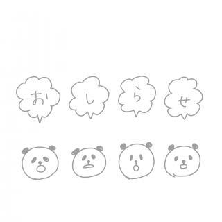 雑パンダさんのおしらせ画像