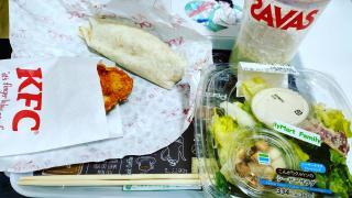 遅めのお昼ご飯画像