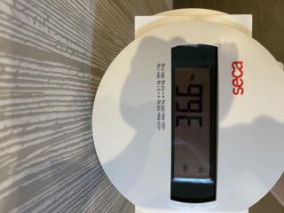今日の体重いえーい画像