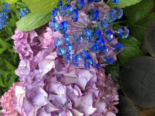 ガラスの紫陽花画像