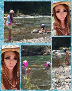 川遊び♪画像