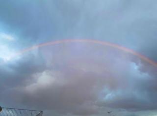 久しぶりに見た虹🌈🌈🌈🌈🌈🌈画像