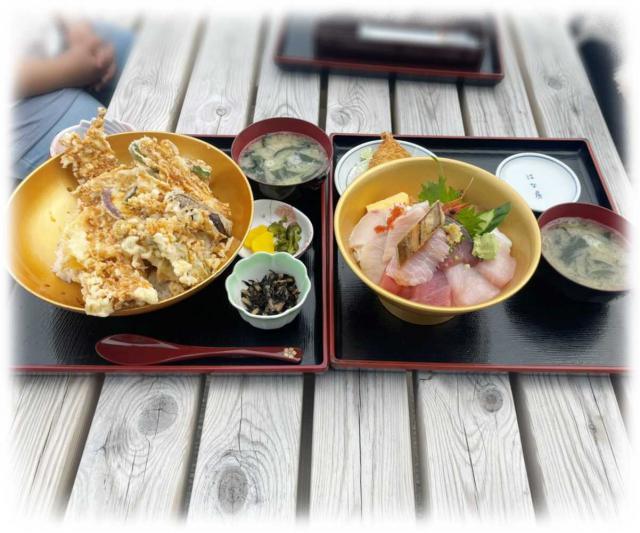 「海鮮丼」と「特大あなご天丼」